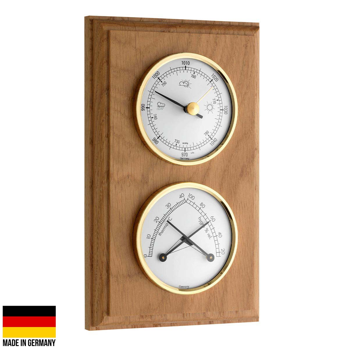 TFA Domatic Weather Station Oak Finish 20cm 20.1087.01