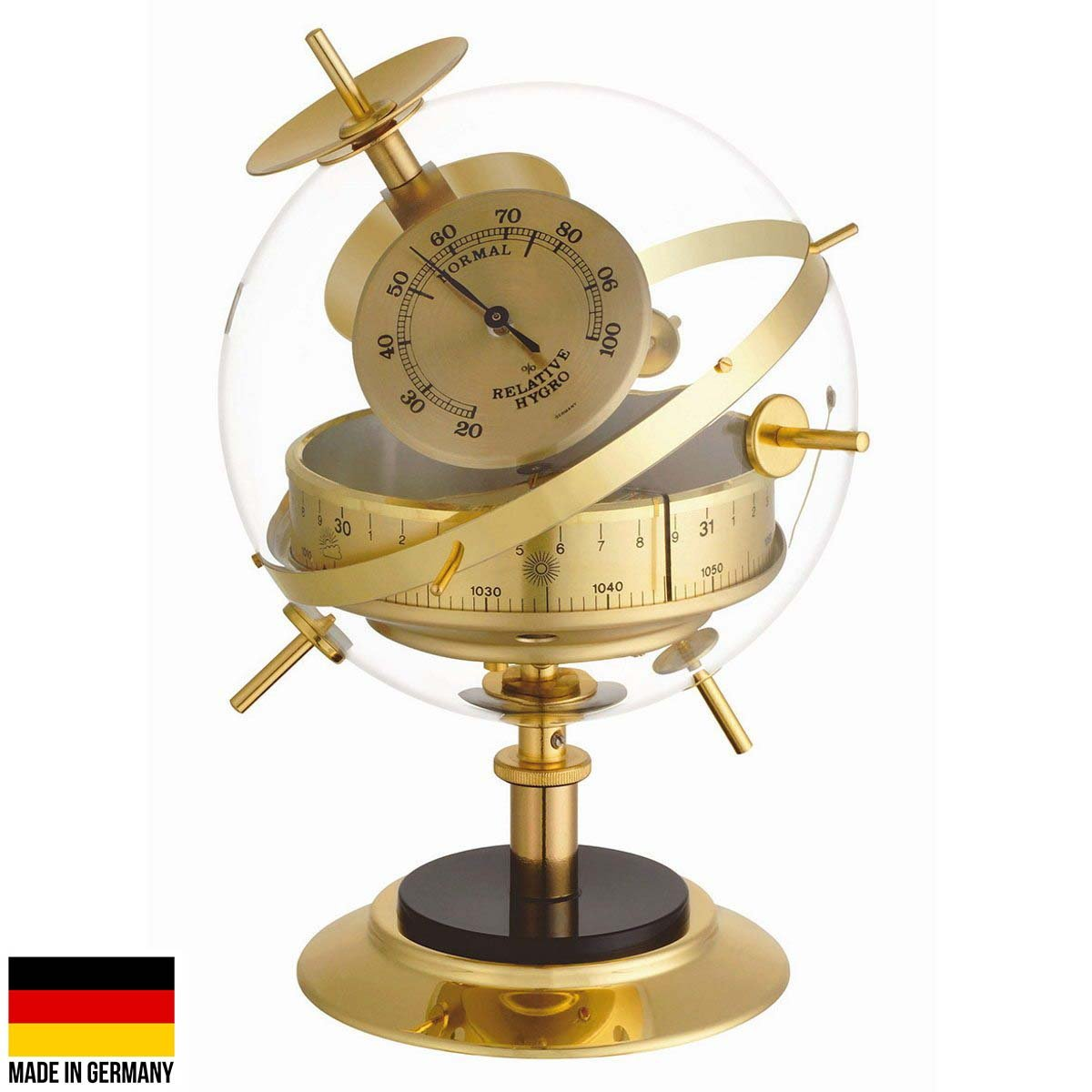 TFA Sputnik Weather Station Brass Finish 20cm 20.2047.52 Front