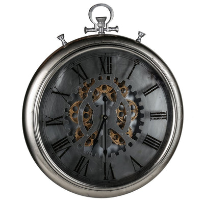 Horace Iron Gears FOB Pocket Wall Clock 62cm Angle 42155