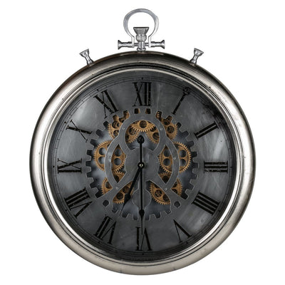 Horace Iron Gears FOB Pocket Wall Clock 62cm Front 42155