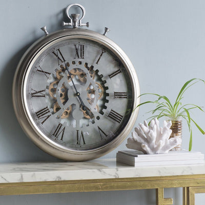 Horace Iron Gears FOB Pocket Wall Clock 62cm Glamour 42155
