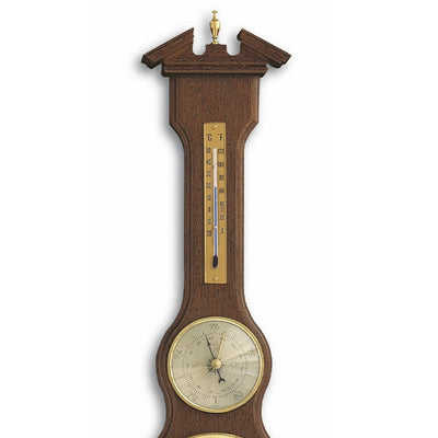 TFA Sheraton Analog Clock Weather Station Walnut Finish 60cm 45.3004.03 Top