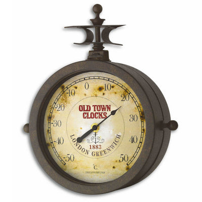 TFA Nostalgia Double Sided Wall Clock And Thermometer 30cm 60.3011 Angle
