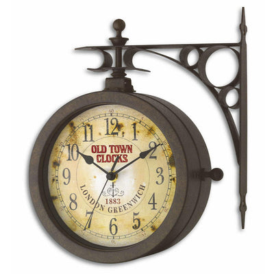 TFA Nostalgia Double Sided Wall Clock And Thermometer 30cm 60.3011 Main
