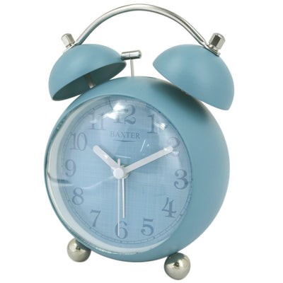Baxter Billy Bubble Bell Alarm Clock Blue 14cm BB4 BLU 1