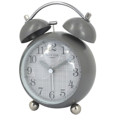 Baxter Billy Bubble Bell Alarm Clock Grey 14cm BB4 GRY 1