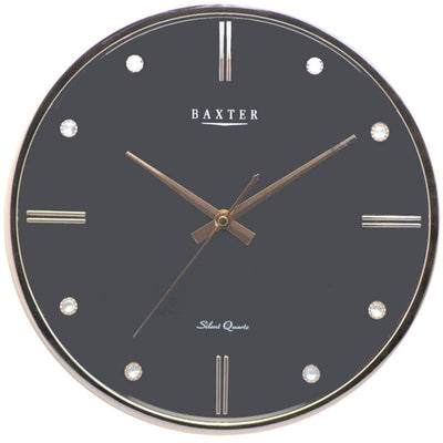 Baxter Bling Domino Wall Clock Black 33cm PW266BLK 1