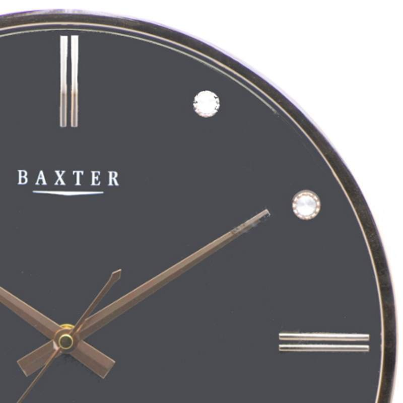 Baxter Bling Domino Wall Clock, Black, 33cm