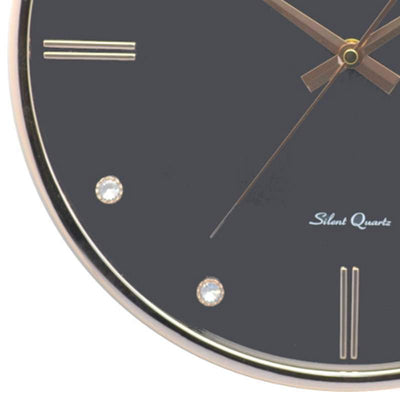 Baxter Bling Domino Wall Clock Black 33cm PW266BLK 3