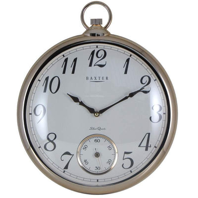 Baxter Bling Fob Wall Clock Gold 43cm PW268 1