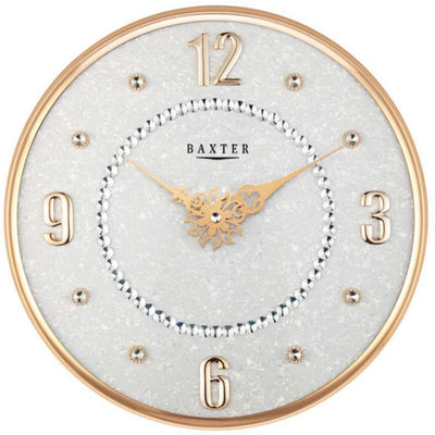 Baxter Bling Posh Wall Clock Gold 36cm PW312GLD 1