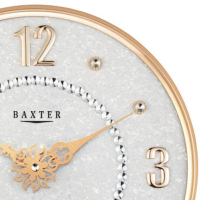 Baxter Bling Posh Wall Clock Gold 36cm PW312GLD 2