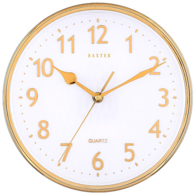 Baxter Brice Wall Clock Gold 25cm PW236 GLD 1