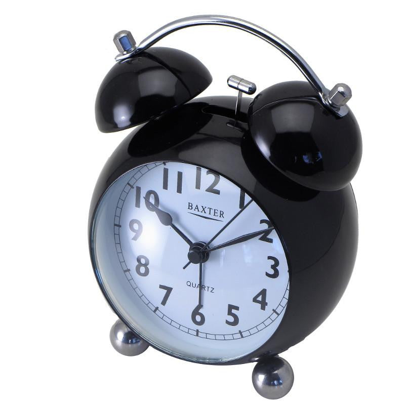 Baxter Bubble Bell Alarm Clock Black 14cm BB4-BLK