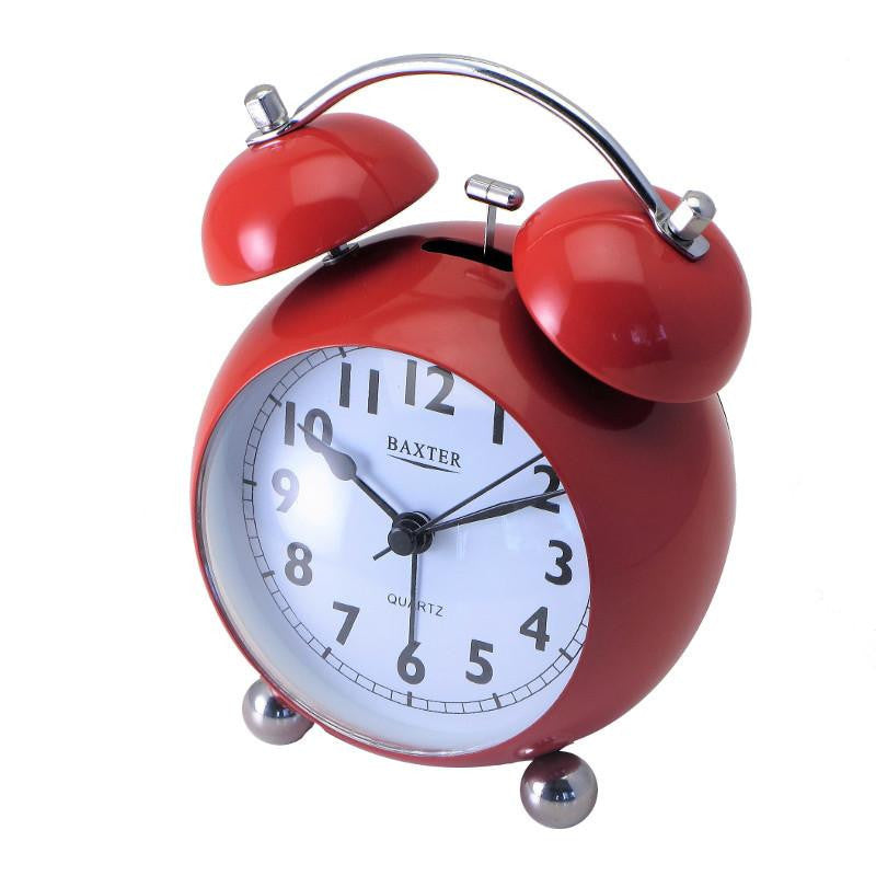 Baxter Bubble Bell Alarm Clock Red 14cm BB4-RED