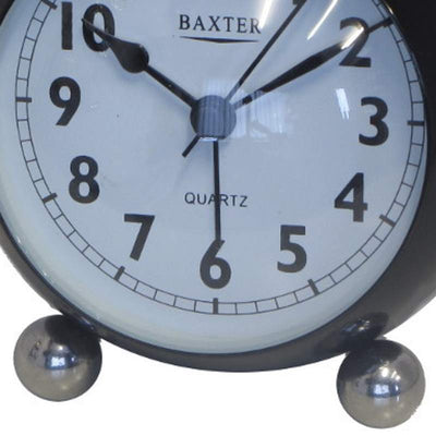 Baxter Bubble Twin Bell Alarm Clock Black 11cm BB3 BLK 3