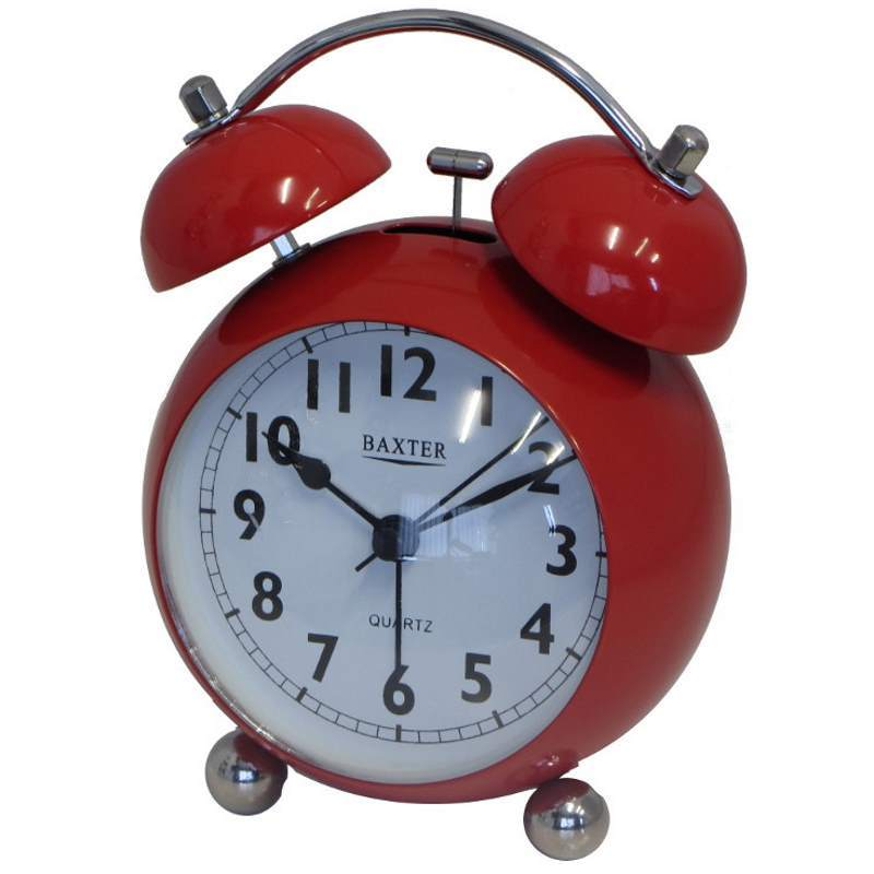 Baxter Bubble Twin Bell Alarm Clock Red 11cm BB3 RED 1