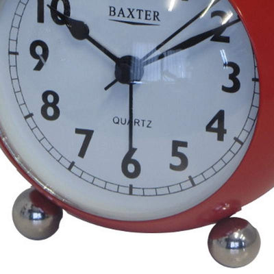 Baxter Bubble Twin Bell Alarm Clock Red 11cm BB3 RED 3