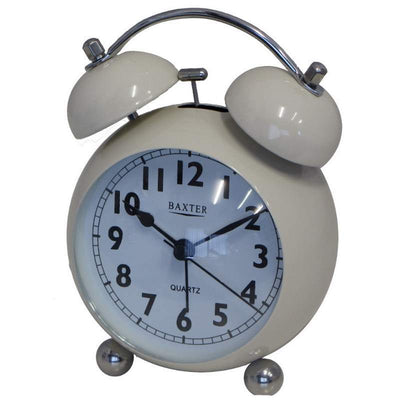 Baxter Bubble Twin Bell Alarm Clock White 11cm BB3 WHT 1