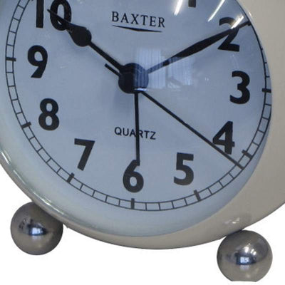 Baxter Bubble Twin Bell Alarm Clock White 11cm BB3 WHT 3