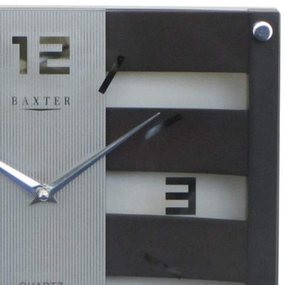 Baxter Crisscross Wood and Glass Wall Clock Walnut 31cm PW225D 2