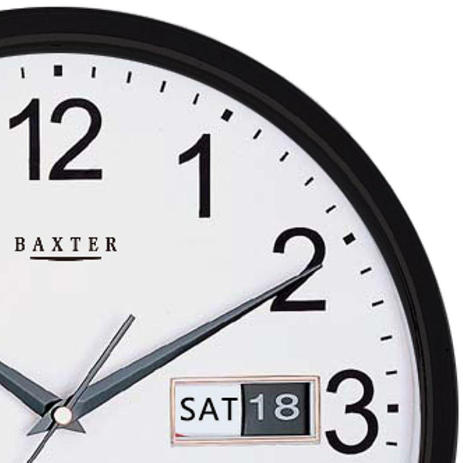 Baxter Elise Day Date Wall Clock, Black, 32cm
