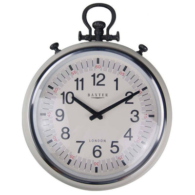 Baxter Metal FOB Watch Wall Clock Cream 45cm PG180CR