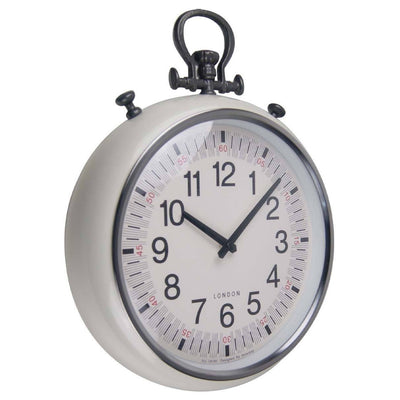 Baxter Metal FOB Wall Clock Cream Angle 45cm PG180CR
