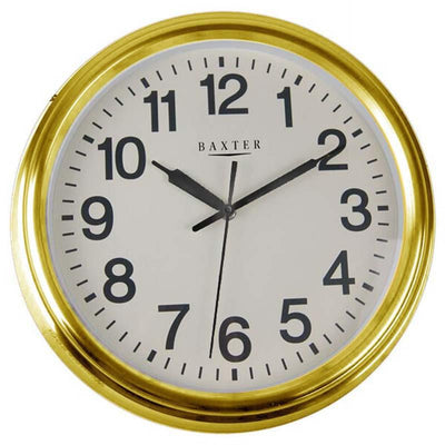 Baxter Metal Wall Clock Gold 36cm PG037G
