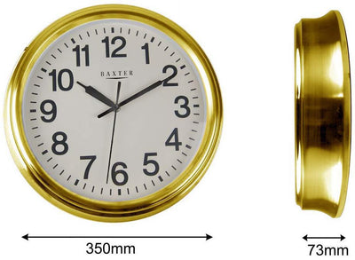 Baxter Metal Wall Clock Gold Dimensions 36cm PG037G