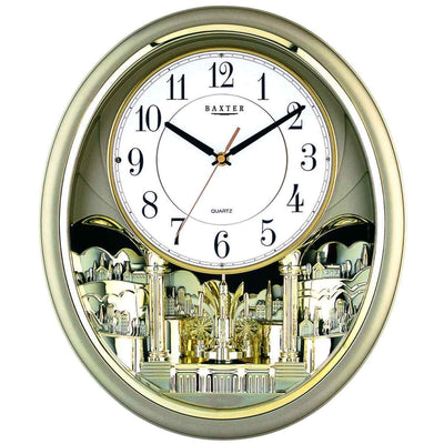 Baxter Musical Wall Clock Gold 43cm PWA020 1