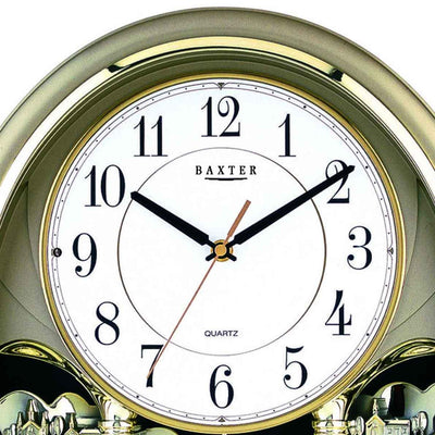 Baxter Musical Wall Clock Gold 43cm PWA020 2