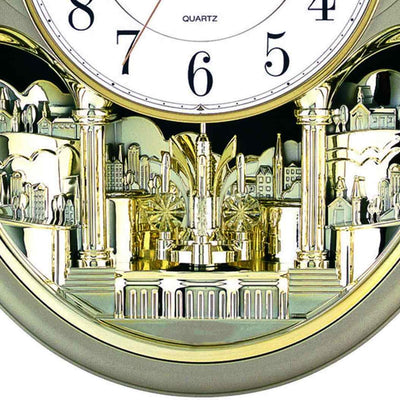 Baxter Musical Wall Clock Gold 43cm PWA020 3