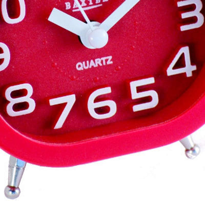 Baxter Oval Twin Bell Alarm Clock Red 12cm B30 RED 3
