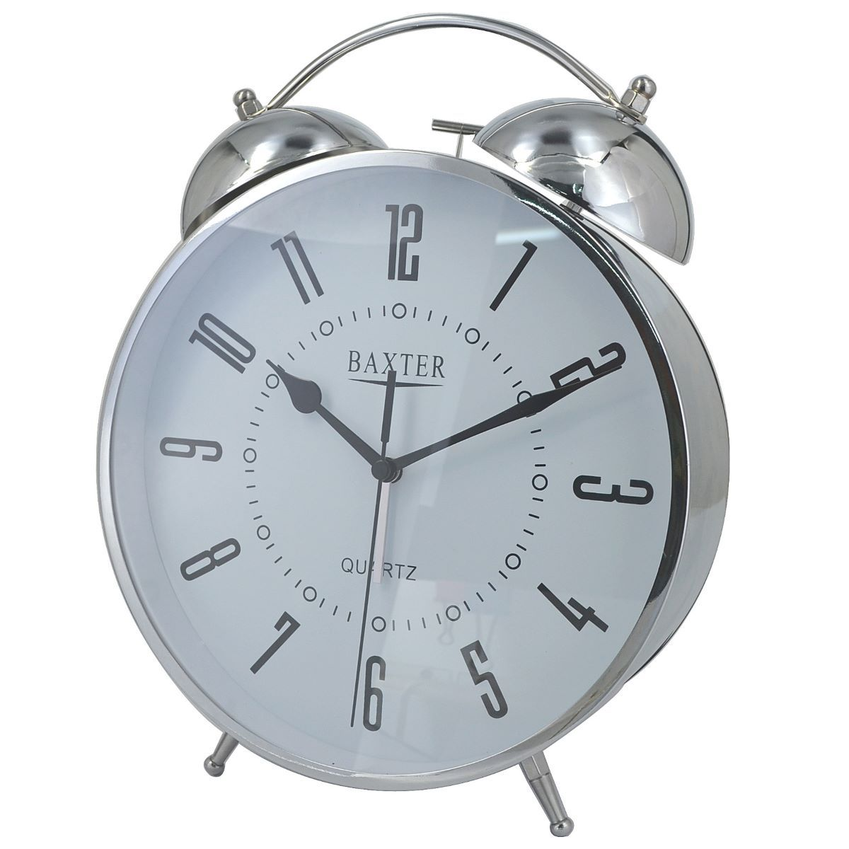 Buy Baxter Rhodey Extra Large Twin Bell Alarm Clock Silver
