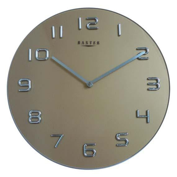 Baxter Round Glass Wall Clock Copper 35cm PW7007COP