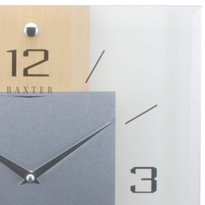 Baxter Timber and Glass Wall Clock Beech 32cm PW2231 2