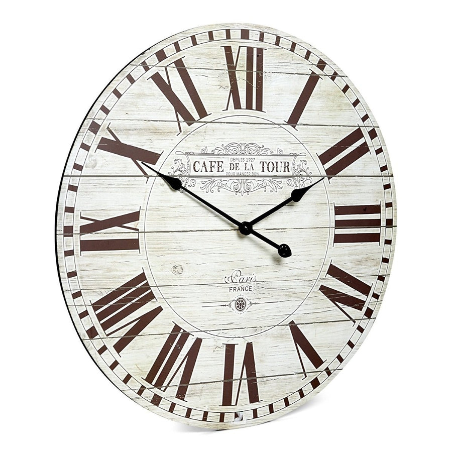 Cafe de la Tour Wooden Wall Clock, 70cm