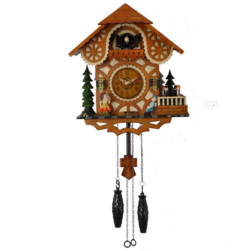 Cambridge Aldo Musical Dancers Wooden Pendulum Cuckoo Clock 33cm WW052 1