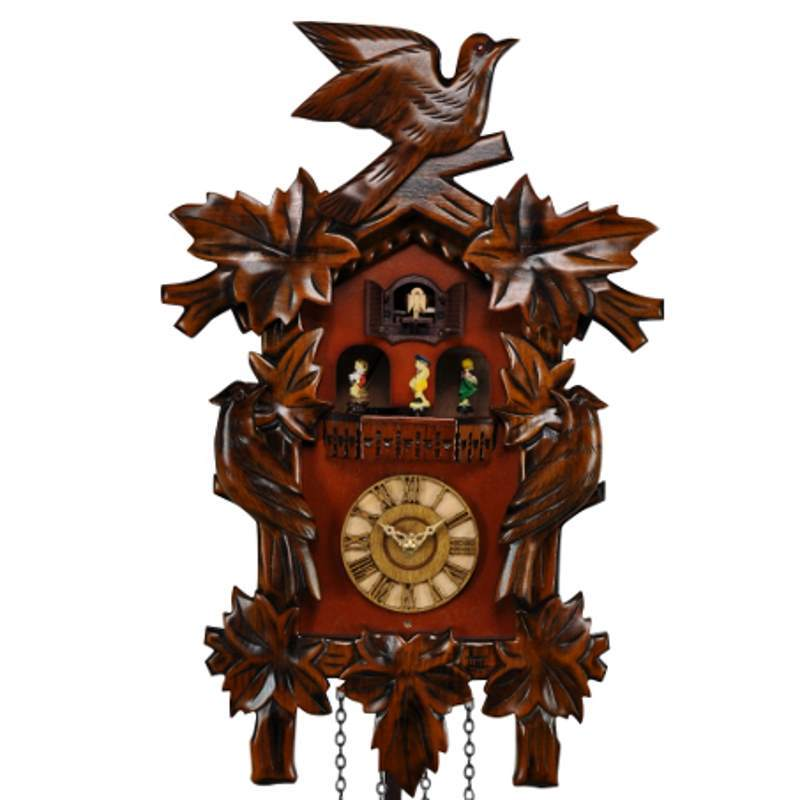 Cambridge Aliz Musical Dancers Wooden Pendulum Cuckoo Clock, 44cm