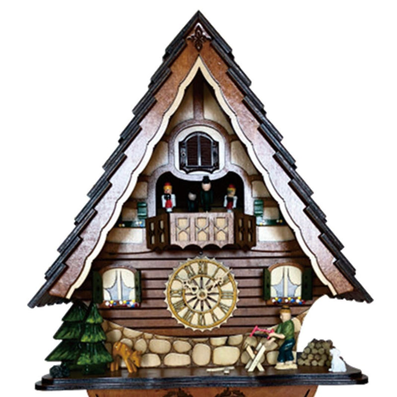 Cambridge Alia Musical Dancers Wooden Pendulum Cuckoo Clock, 39cm
