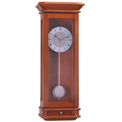 Cambridge Freddie Wooden Cabinet Wall Clock Cherry Wood 60cm WW016 1