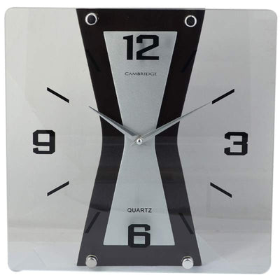Cambridge Hourglass Wooden Wall Clock Black 30cm PW227D 1