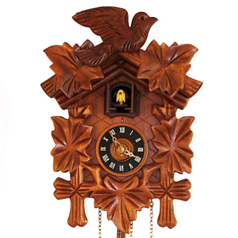 Cambridge Maple Wooden Pendulum Cuckoo Clock, 24cm