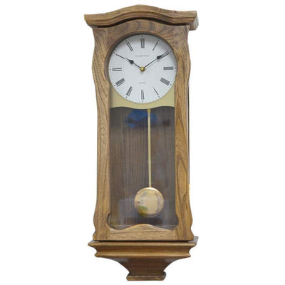 Cambridge Nancy Wooden Four Melody Pendulum Wall Clock Ash 61cm WW013 1