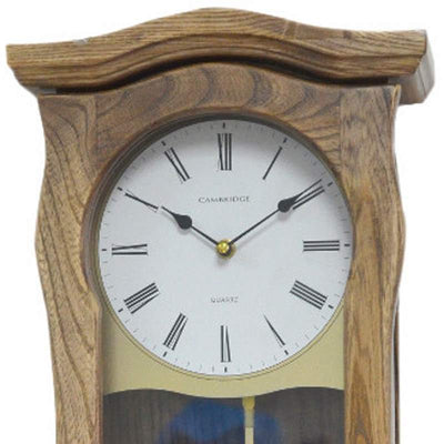 Cambridge Nancy Wooden Four Melody Pendulum Wall Clock Ash 61cm WW013 2