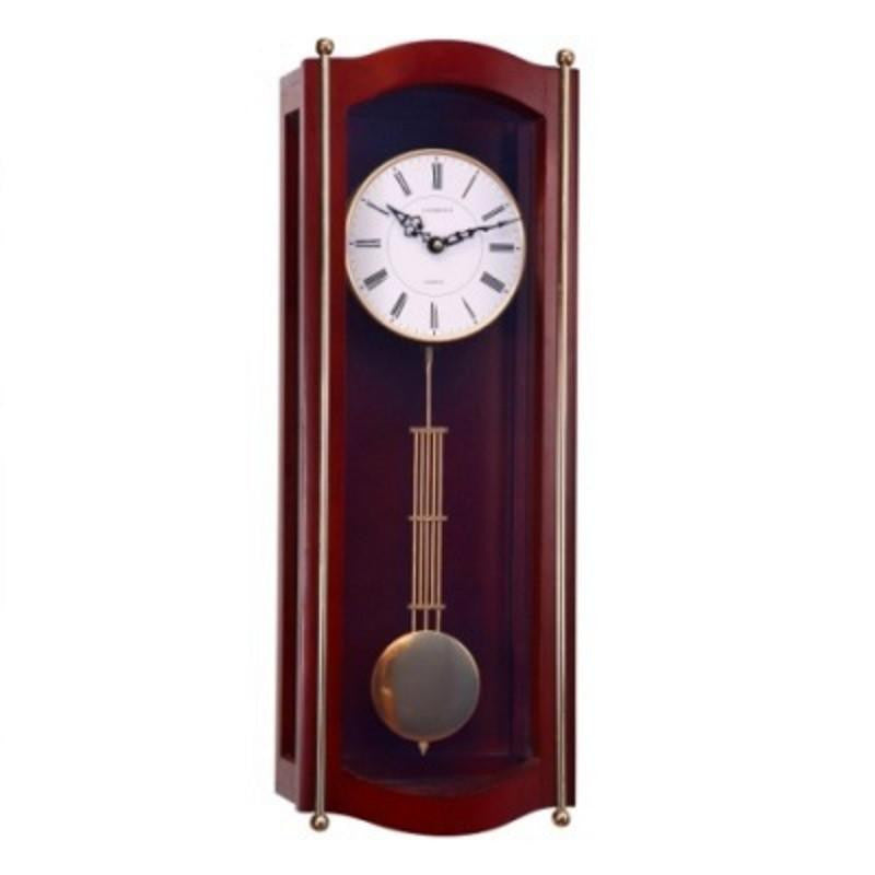 Cambridge Pendulum Wall Clock with 4 Chimes, Brown, 62cm