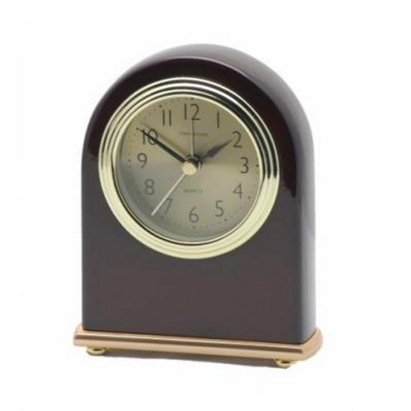 Cambridge Wooden Desk Alarm Clock, 13cm