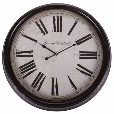 Casa Uno Grand Central Wall Clock 63cm Front ME13