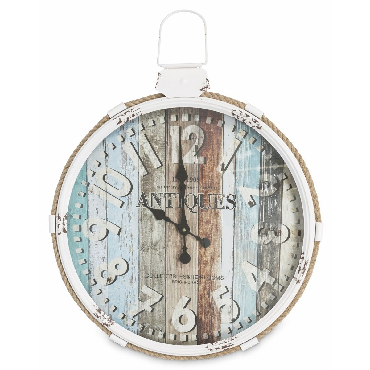 Casa Uno Hamptons Iron FOB Wall Clock, 69cm